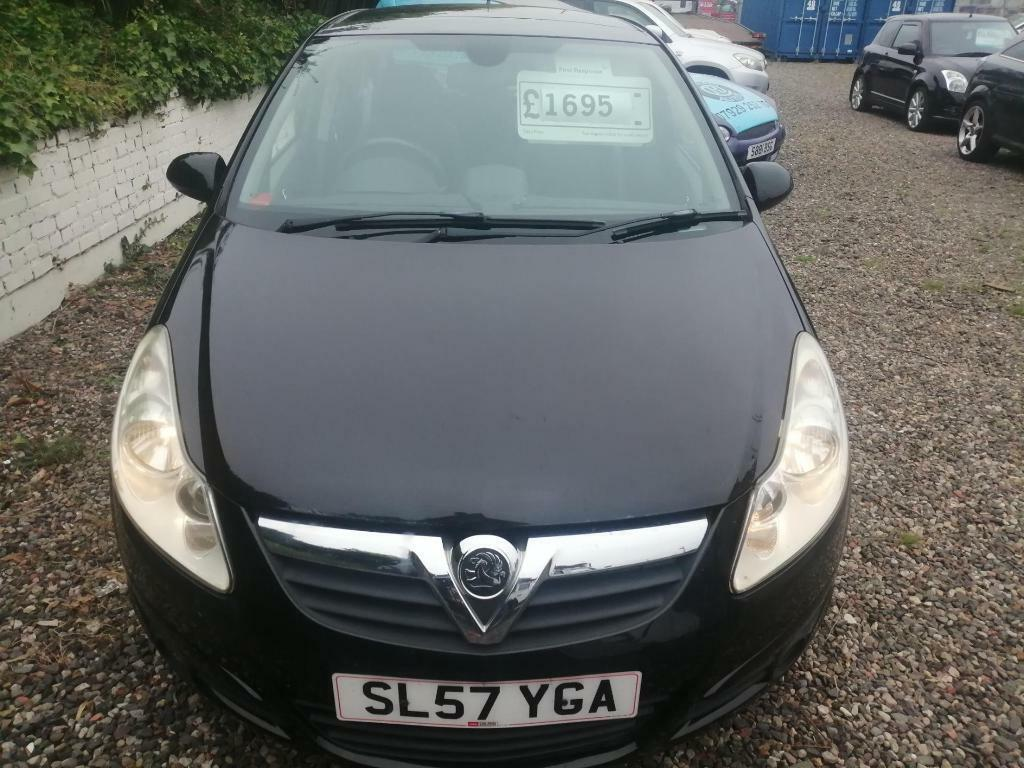 VAUXHALL CORSA 1.4i 16V Design 5dr Will come with new years mot. (black) 2007