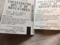 Chessington tickets 2x