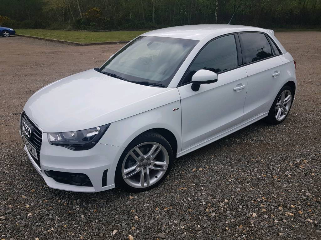 glacier white audi a1 1 4 tfsi s line sportback 5dr in. Black Bedroom Furniture Sets. Home Design Ideas