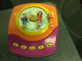 VINTAGE POLLY POCKET MUSIC CD PLAYER PLAYSET - COMPLETE WITH ALL 3 ORIGINAL FIGURES
