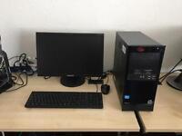 HP Pro 3300 Intel i3 3.3ghz 8gb ram 500gb 19 inch Samsung hd monitor windows 10 full system