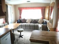 CHEAP STATIC CARAVAN, DOUBLE GLAZED AND ELECTRIC HEATING WITH DECKING, IN SKEGNESS, LINCOLNSHIRE