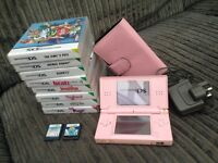 PINK NINTENDO DS AND ACCESSORIES