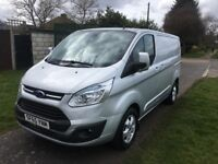 2015 FORD TRANSIT CUSTOM 270 LIMITED EDITION SILVER 21 000 MILES