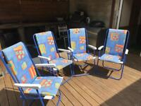 4 foldable outdoor patio chairs