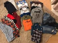 Large bundle of boys clothes 6-8 years