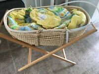 Preloved Mamas & Papas Moses basket with stand