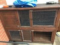 Extra large 2 tier 5 ft rabbit / guinea pig hutch