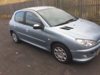 £30 ROAD YEAR DIESEL PEUGEOT 206 2005 5DR FULL YEAR MOT EXCELLENT CONDITION