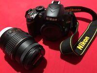 Nikon 3200 with Lens, Remote & Sigma Wide Angle Lens!