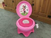 Child's training toilet Minnie mouse