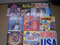 11 x Vintage Vinyl LP's Top Hits from 1960's through to 1980's