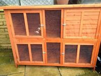 Rabbit Hutch 5ft used 1 month plus run and all accessories NOW SOLD!!