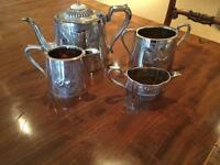 Victorian silver plate tea - set