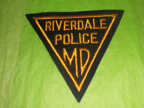 Riverdale Maryland Triangle Police Patch - Vintage Early 1950