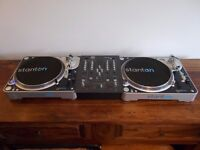 STANTON T80 DIRECT DRIVE TURNTABLS+WAVE 4 CHANNEL MIXER/TECHINCS 1210/1200 ALTERNATIVE/ UK DELIVERY