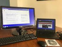 Dell Latitude e7250 SSD with Dock & 21in; monitor