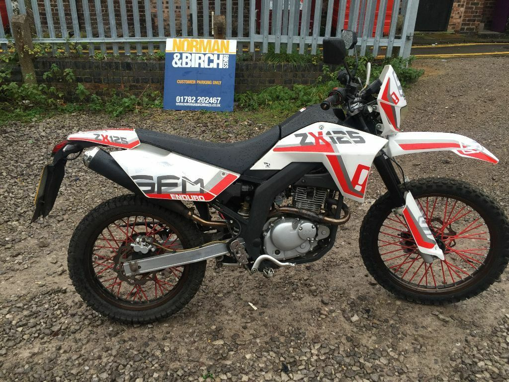 sachs sfm zx 125 white 2013 enduro cbt delivery finance 4 stroke in stoke on trent. Black Bedroom Furniture Sets. Home Design Ideas