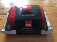 Kuhn Rikon Butter Dish in Red: New and Unused - 15 pounds