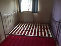 Next Gorgeous chrome and crystal double bed frame, brand new, unused from guest room.!!!