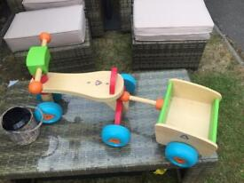 Wooden Trike & Trailer Early learning centre