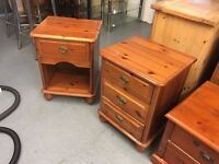 PAIR OF PINE BEDSIDE TABLES/DRAWERS