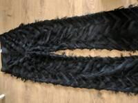 ZARA furry patterned trousers XS