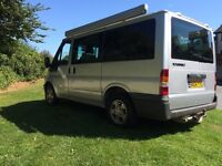 Ford Transit Tourneo 2004, campervan/day van, 4 seats, 2-3 berth, Fiamma, gas cooker