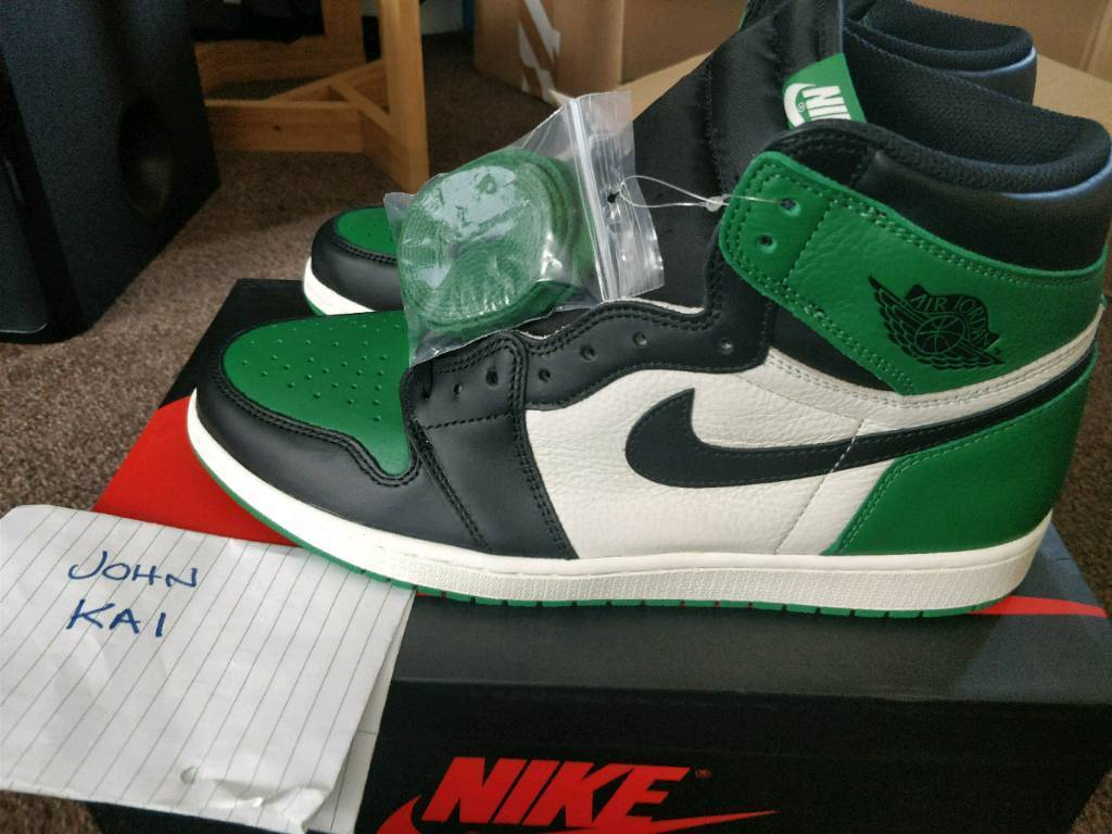 a007b69ab3118d Nike Air Jordan 1 Pine Green UK12 DS BNIB