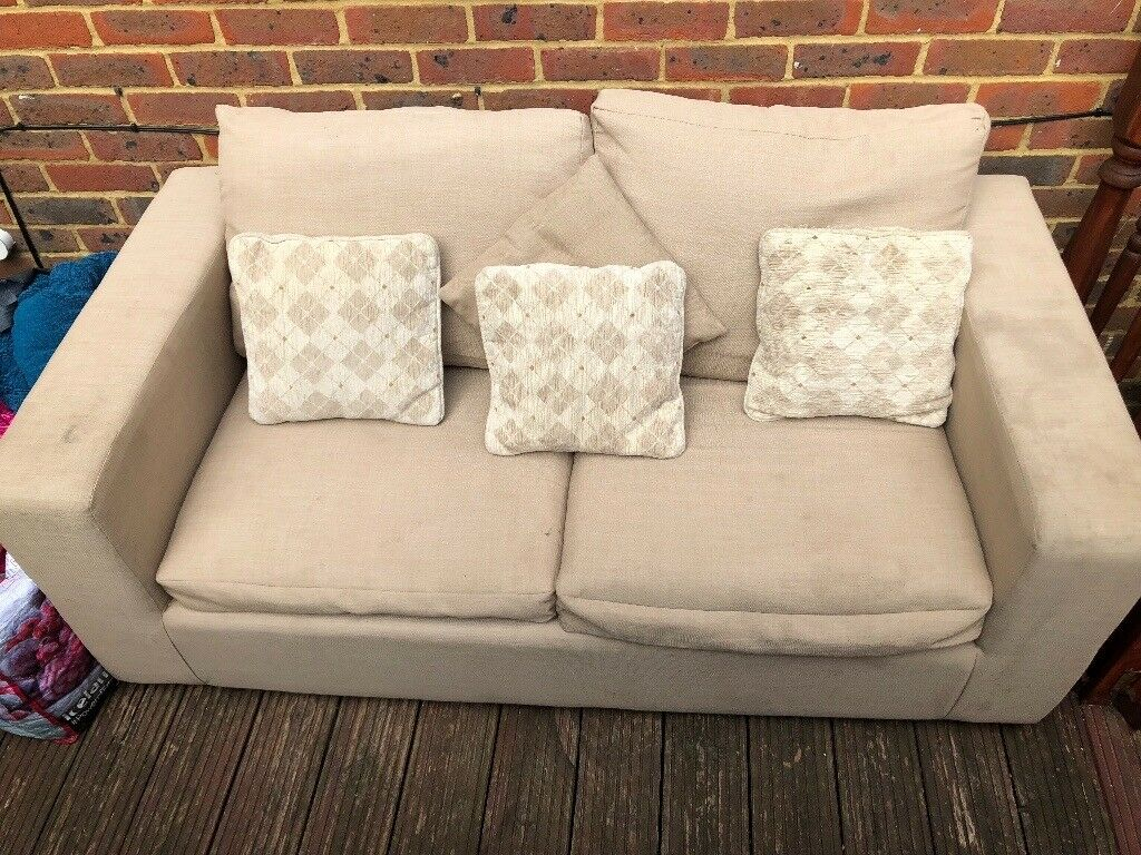 Cream Sofa Bed For Sold As Seen Open To Offers