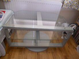 IKEA Swivel glass TV stand