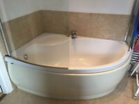 Corner bath plus panel - For Sale