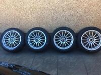 "18"" Wolfrace Alloy Wheels with Tyres"