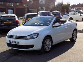 VOLKSWAGEN GOLF 1.6 TDi SE Turbo Diesel Bluemotion Tech 2dr Cabriolet ** Bluetooth + DAB + Cruise **