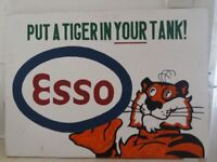 """ESSO """"Put a Tiger in your tank"""" Wooden Sign"""