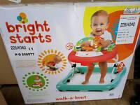 Bright starts walk about safari baby walker