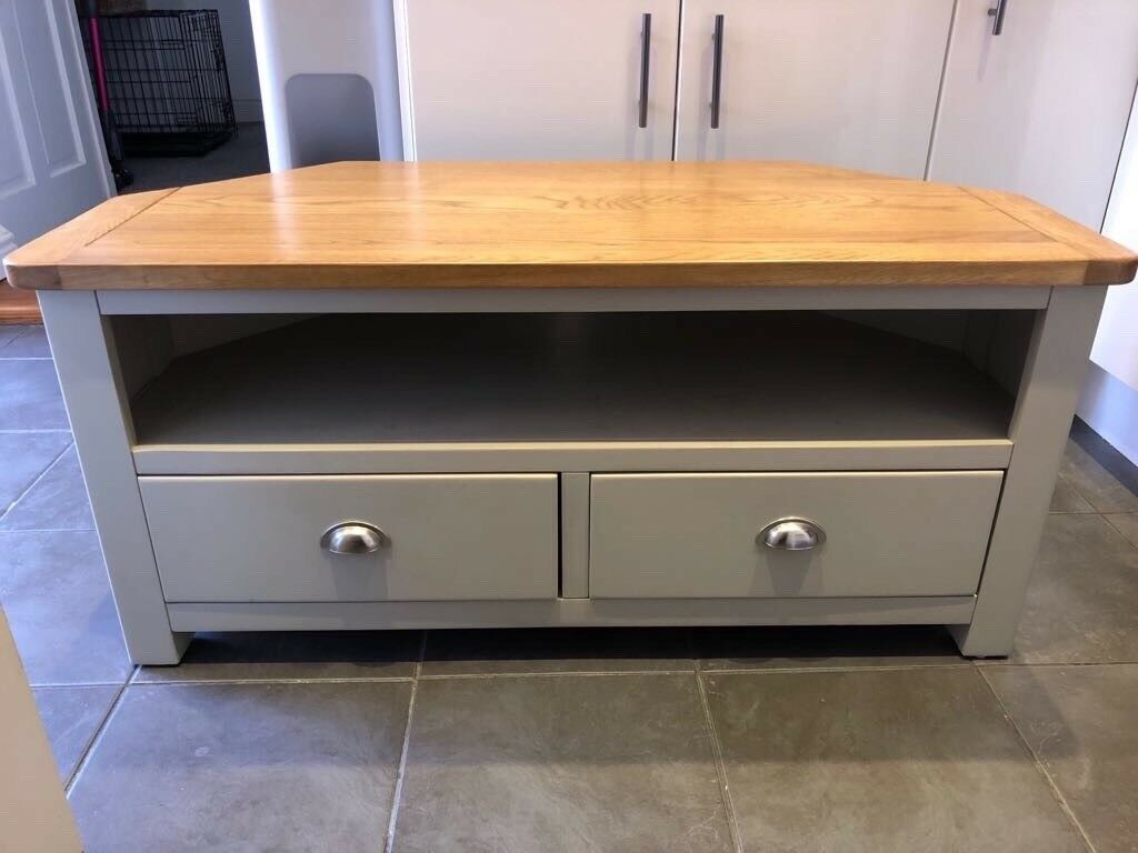 Solid Wood Corner Tv Stand And A Set Of 3 Nest Of Tables In Halstead
