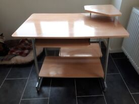 Compact beech effect desk, purchased from john lewis., in excellent condition.