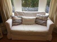 2 Seater Sofa Bed White 'Hagalund' IKEA - £100 - Perfect Condition