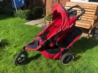 Phil & Teds Double Pushchair/Pram with carrycot & LOTS of accessories