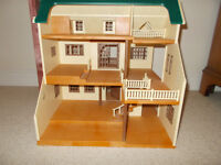 Sylvanian Families Canal Barge, House, School House and Village Bus