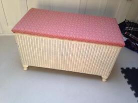 Lloyd loom ottoman blanket toy box Laura Ashley fabric