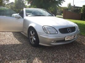 Mercedes SLK 230 Kompressor Automatic. Petrol. Silver. Service history. All good tyres. £4500.