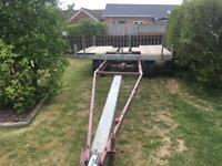 Large yard trailer for boat yacht cabin cruiser