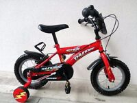 "(2587) 12"" DAWES THUNDER Boys Girls Kids Childs Bike Bicycle + STABILISERS Age: 3-4 Height: 90-105cm"