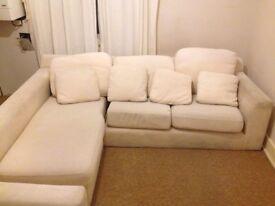 Corner sofa and matching armchair