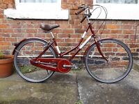 Ladies Womens Bike, Burgundy, great condition just been serviced