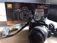 Nikon D40 Digital camera 18-55mm lens