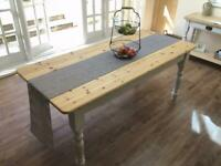 FARMHOUSE TABLE PLUS 4 CHAIRS