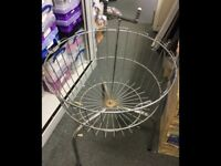 Wire Retail Display Basket for Shop, Car Boot or Market Use H60cm x W50cm